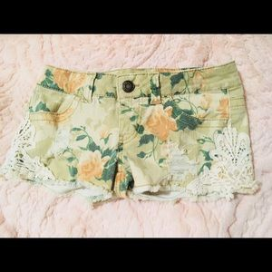 Mossimo Supply Co. Rose Pattern Shorts